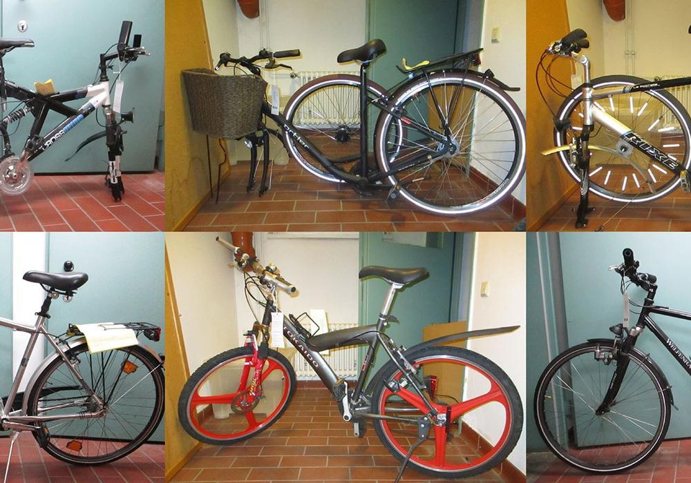 Sechs Fahrräder suchen ihre Eigentümer. Foto: Polizei