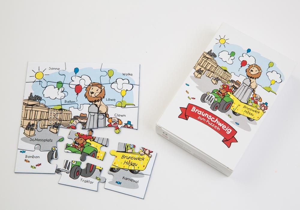 Das liebevoll illustrierte Kinderpuzzle ist ein schönes Geschenk für die Kleinen. (Foto: Braunschweig Stadtmarketing GmbH / Marek Kruszewski