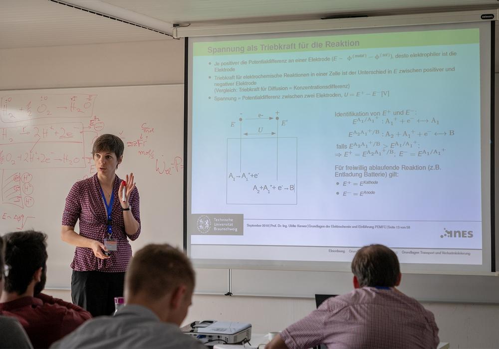 Prof. Ulrike Krewer vom Institut für Energie- und Systemverfahrenstechnik an der TU Braunschweig. Fotos: Marisol Glasserman/TU Braunschweig