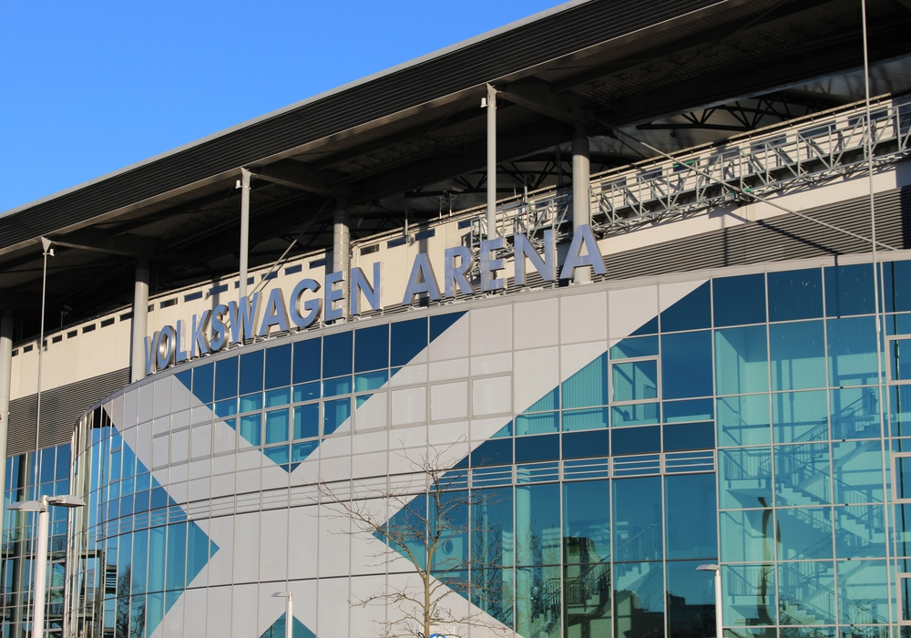 Am 21. Januar wird die neue LED-Flutlichtbeleuchtung im Heimspiel gegen des Hamburger SV eingesetzt. Foto: Magdalena Sydow