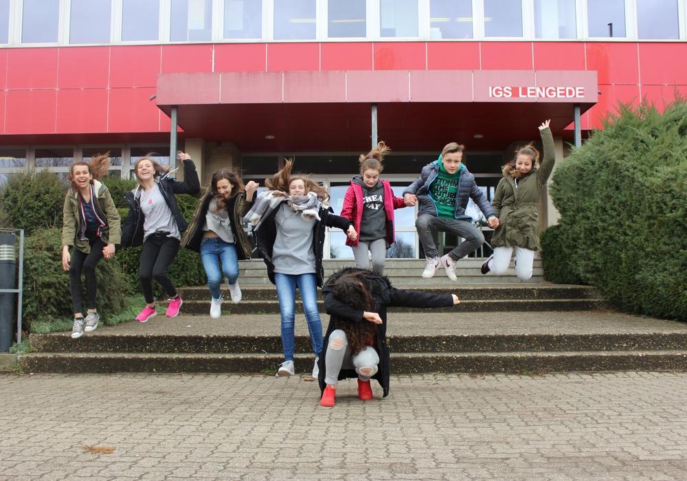 Die Schüler hatten viel Spaß zusammen. Fotos: Annegret Buggisch