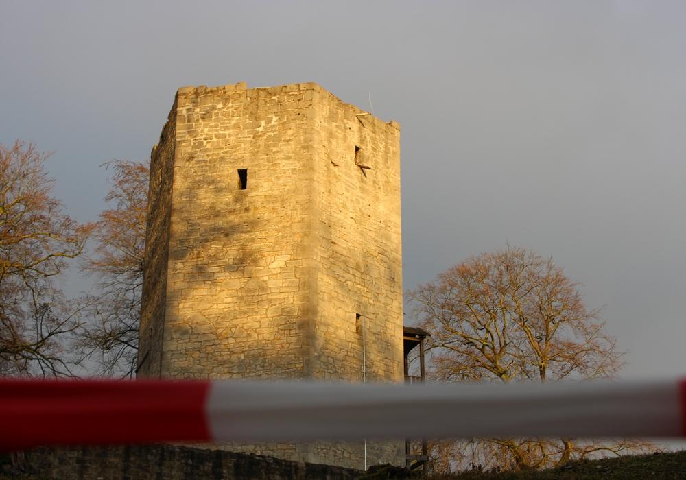 Burg Lichtenberg nach Abriss des verbrannten Aufbaus. Foto: Alexander Panknin