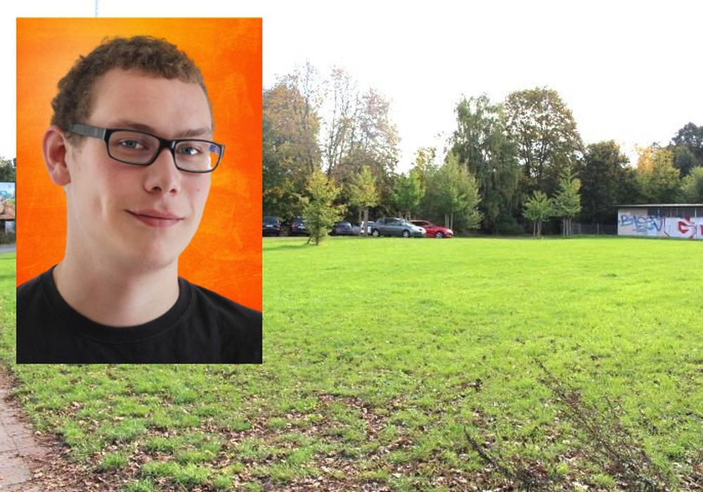 Christian Bley hätte sich mehr Informationen über den Stand der Grünflächen in Braunschweig erhofft. Foto: Piraten/Symbol Grünfläche: Robert Braumann