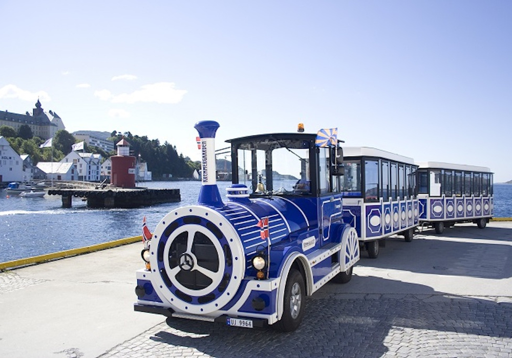 Solch eine Bimmelbahn könnte - dann aber als Elektroversion - nach Vorstellung der AfD-Fraktion durch Wolfenbüttels Innenstadt rollen. Foto: City Train GmbH, Regensburg