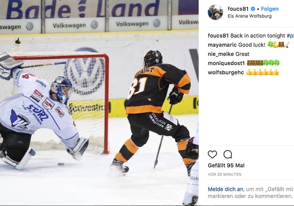 Per Instagram meldete sich Foucault zurück. Bildschirmfoto: Jens Bartels