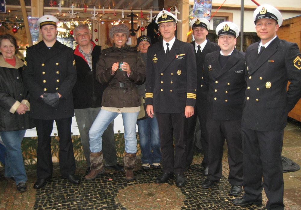 Flottendienstboot Oker zu Gast im Großen Heiligen Kreuz. Foto: Privat