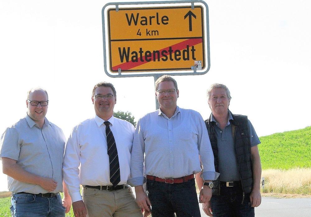 Jörn Domeier MdL, Alexander Heidebroek, Marcus Bosse MdL, Rudolf Wollrab. Foto: SPD