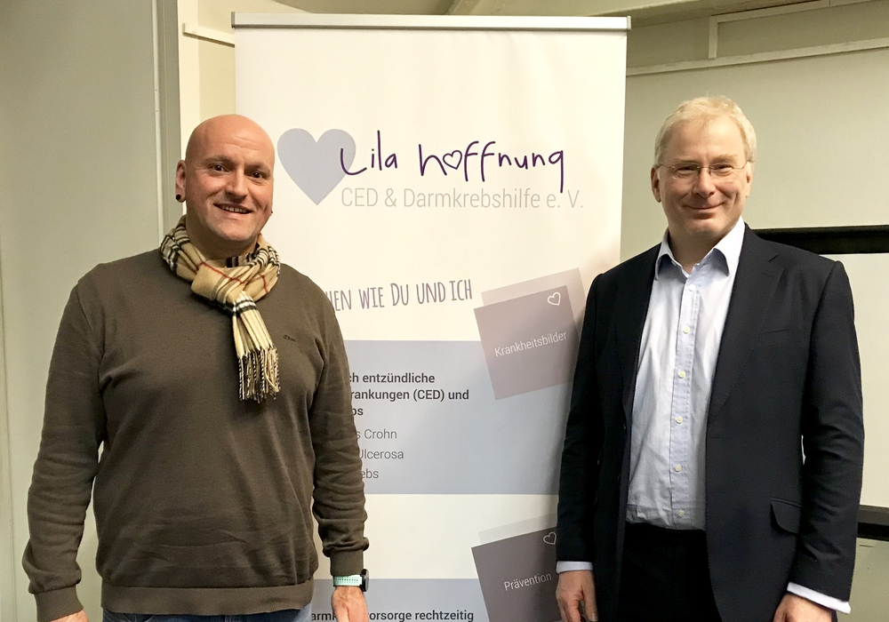 Holger Busse und Dr. med. Peter Tarillion. Foto: Verein