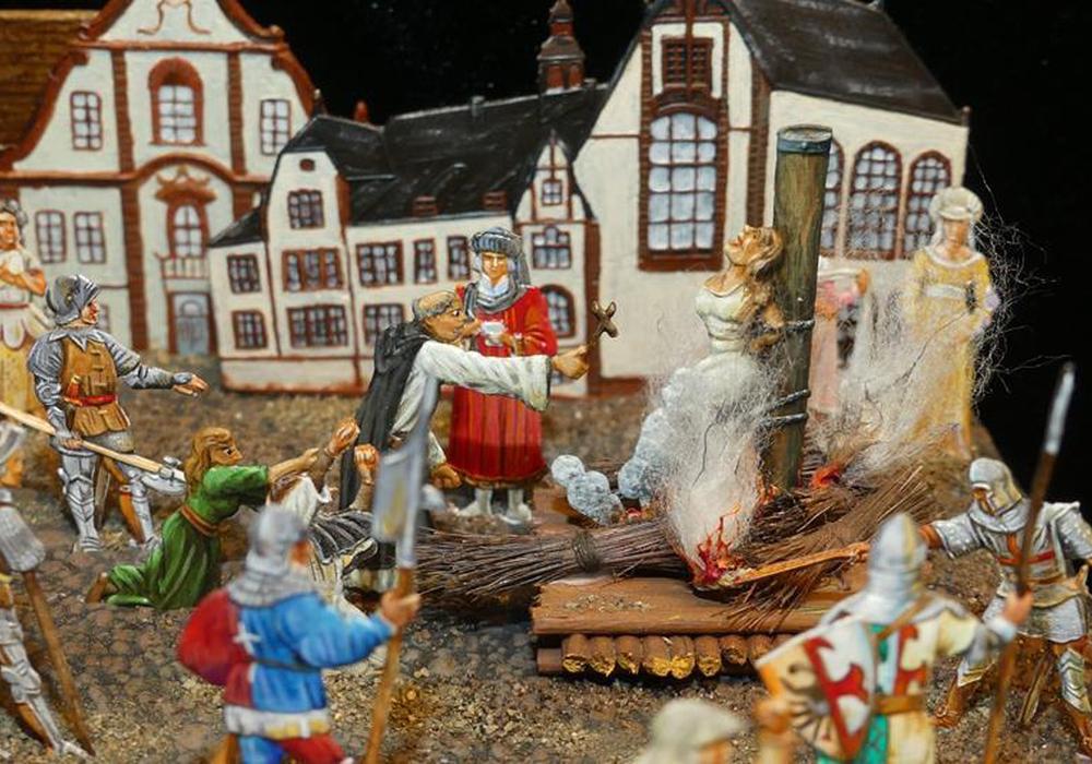 Jeanne dàrc.  Fotos: Zinnfigurenmuseum Goslar