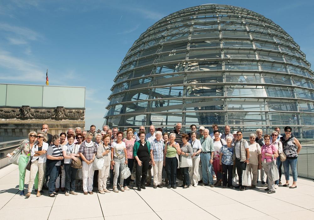 50 Bürger aus dem Wahlkreis Salzgitter/Wolfenbüttel erkundeten mit dem CDU-Bundestagsabgeordneten Uwe Lagosky Berlin. Foto: CDU