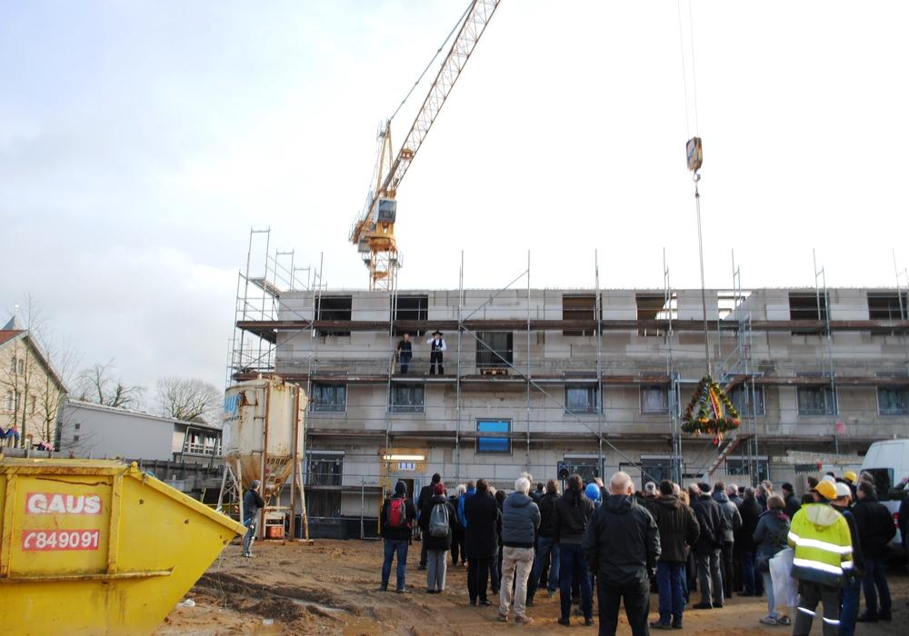 Bereits am 26. Januar war das Richtfest für das Gebäude der zukünftigen Kita St. Leonhard International. Foto: CJD