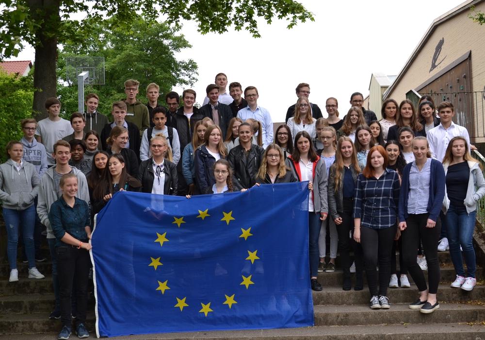 Die Teilnehmer des EU-Planspiels am THG. Fotos: THG