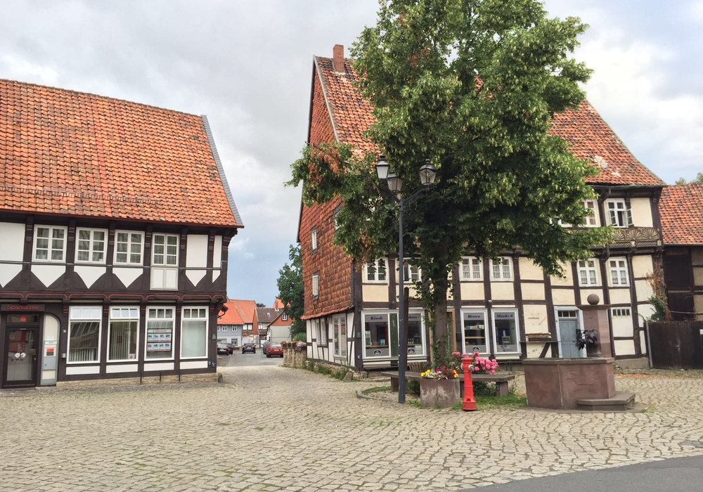 Der Marktplatz in Hornburg, Foto: Anke Donner
