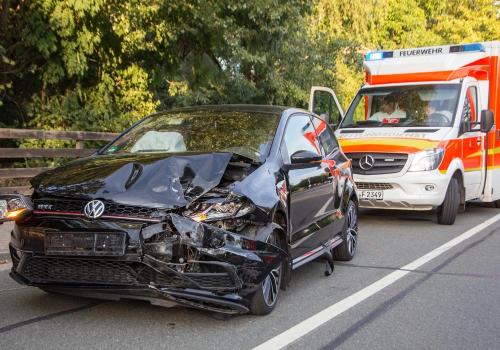 Vier Personen wurden bei dem Auffahrunfall verletzt. Fotos: Rudolf Karliczek