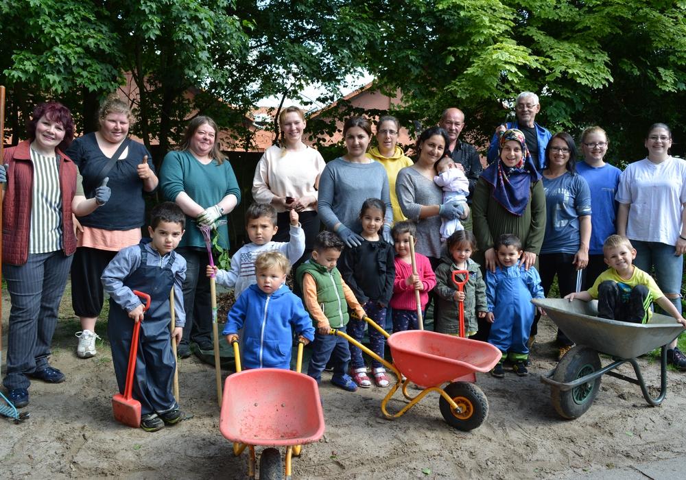 Der Martin-Luther-Kindergarten legte einen Gartentag ein. Foto: Nicole Laskowski