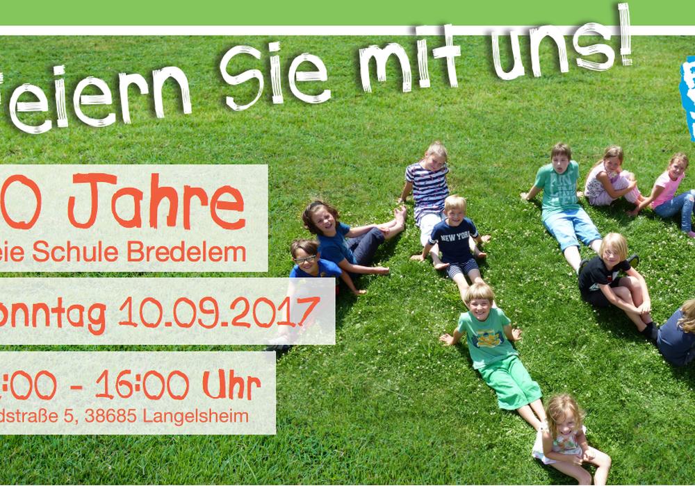 Zehn Jahre gibt es die Freie Schule Bredelem nun schon. Plakat: Freie Schule Bredelem