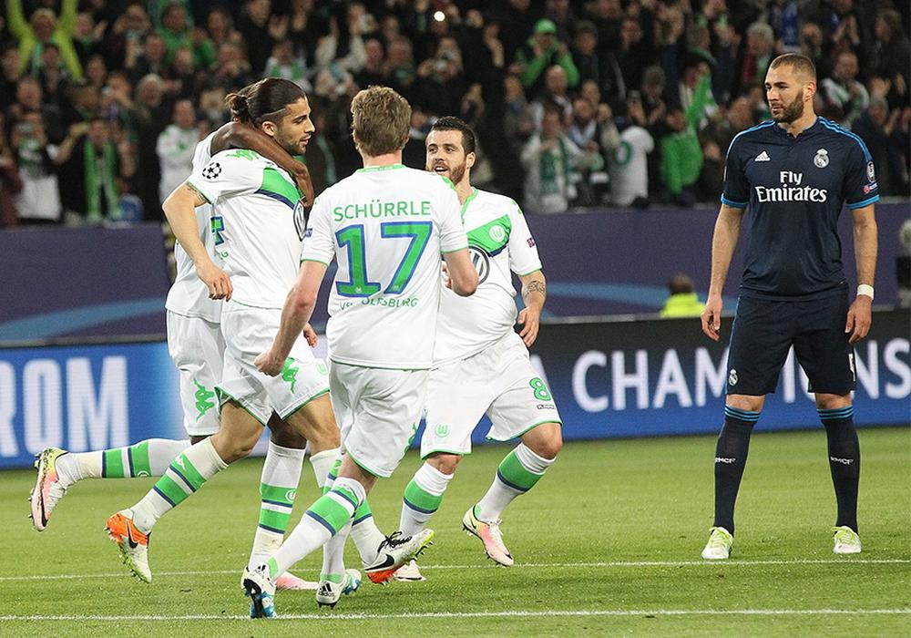 """2016 siegte Wolfsburg daheim gegen Real Madrid. Bei den Gehältern lag man ebenfalls nicht """"weit"""" weg. Foto: Agentur Hübner"""