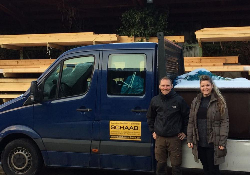 Wirtschaftsförderin Anja Hallmann besuchte die Firma  Ingenieur Holzbau Schaab GmbH. Foto: Landkreis