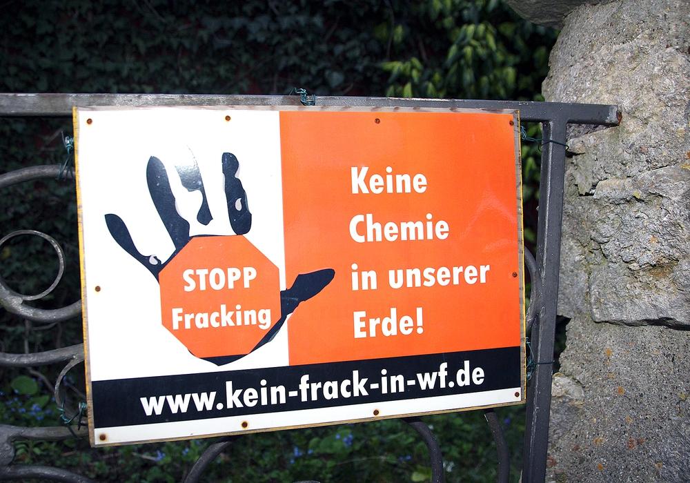 Fracking stößt immer wieder auf Ablehnung. Symbolfoto: Archiv/Thorsten Raedlein
