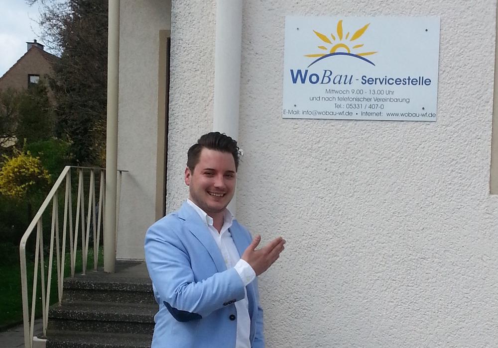 Norman Migura ist der Ansprechpartner für die WoBau-Mieter in Schöppenstedt. Foto: WoBau