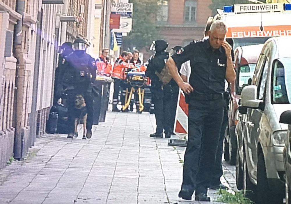 Ein 43-Jähriger sorgte am Donnerstag für einen Großeinsatz der Polizei in der Nußbergstraße. Foto: aktuell24/bm/dc