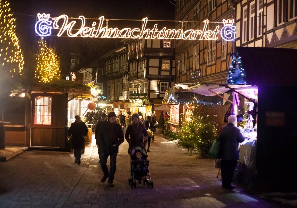 Der Weihnachtsmarkt in Goslar. Foto: Alec Pein