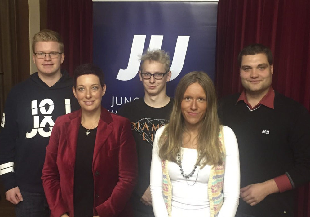 (v.l.) Justin Gronau, Sarah Grabenhorst-Quidde, Maximilian Hügel, Jacqueline Gödecke, Daniel Eimers. Foto: Junge Union