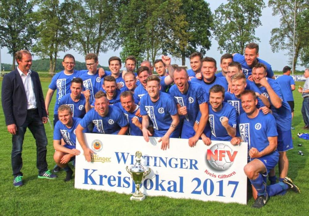 Erstmals Pokalsieger: VfL Germania Ummern. Foto: Verein