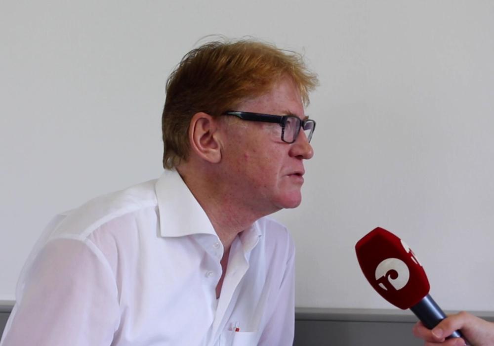 Dr. Rainer Mühlnickel, Vorsitzender der Fraktion Bündnis 90/Die Grünen bezieht Stellung zur Aussage der BIBS. Foto: Max Förster