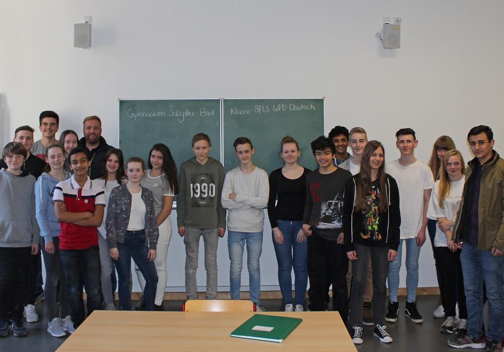 Die Klasse 8fl3 vom Gymnasium Salzgitter-Bad interessierte sich für die Pressearbeit. Foto: Alexander Panknin