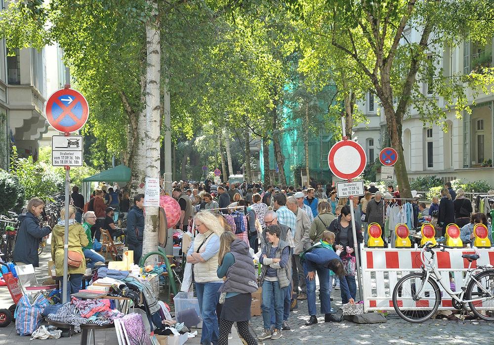 Am 13. August findet in der  Bernerstraße ein Flohmarkt statt. Foto: Maike Kempf