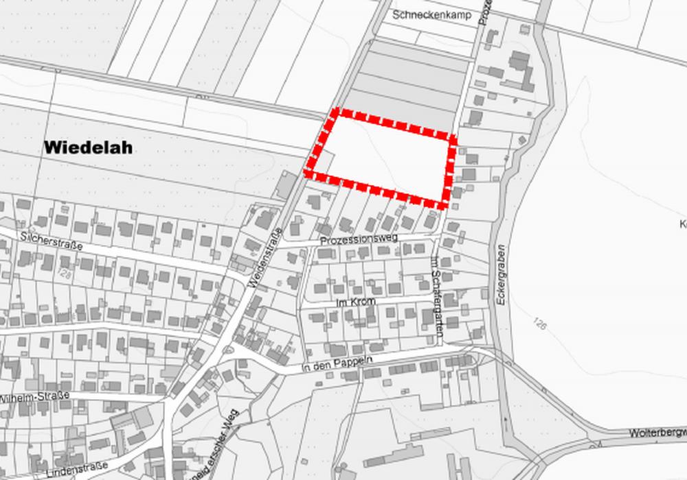 """Die Fläche """"Östlich Weidenstraße"""" könnte sich schon bald in ein Wohnbaugebiet verwandeln. Foto: Stadt Goslar"""