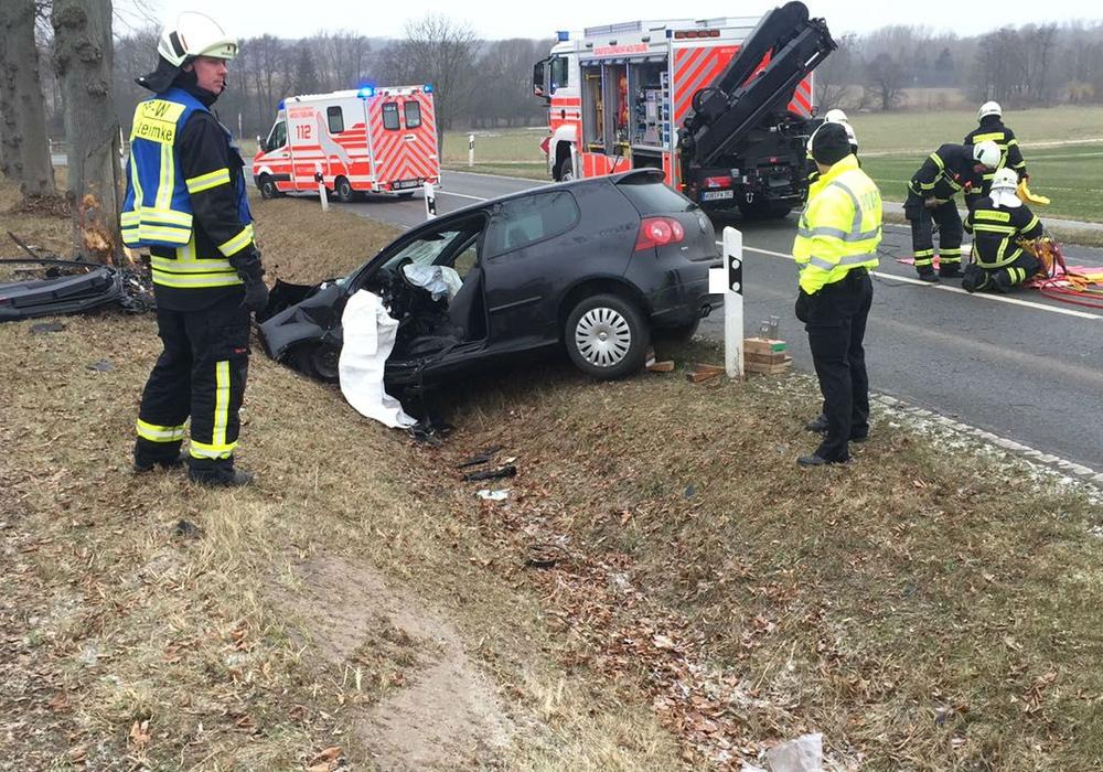 Die Fahrerin kam aus bisher ungeklärter Ursache von der Fahrbahn ab. Foto: Bernd Dukiewitz