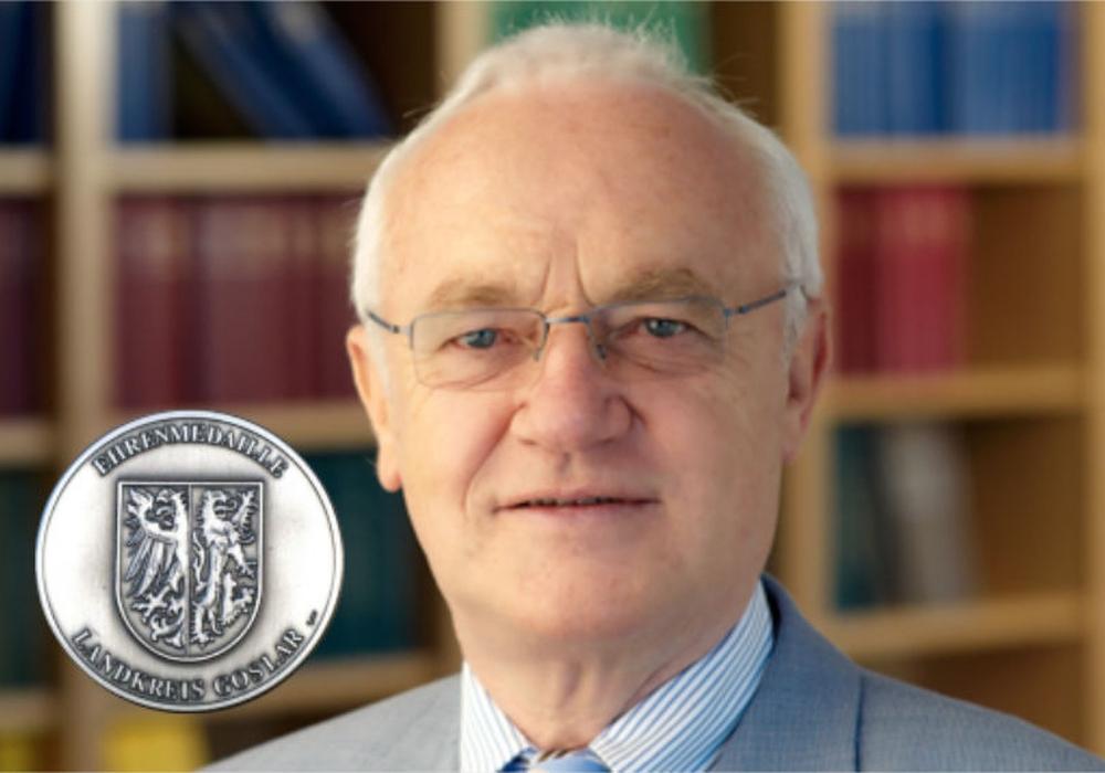 Justizrat Hans-Jürgen Gebhardt erhält Goslar-Medaille. Foto: RAe Gebhardt & Kollegen