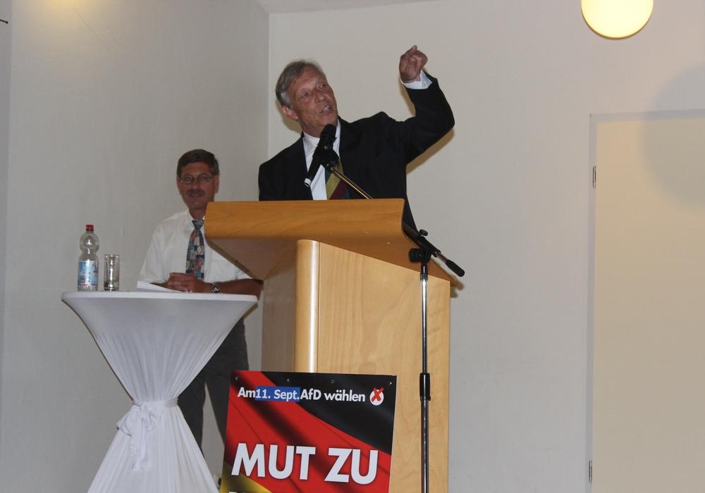 Zu ihrem nächsten öffentlichen Forum erwartet die Braunschweiger AfD als Gastredner Paul Hampel, Vorsitzender des Landesverbandes Niedersachsen und Mitglied des Bundesvorstandes. Symbolfoto: Anke Donner