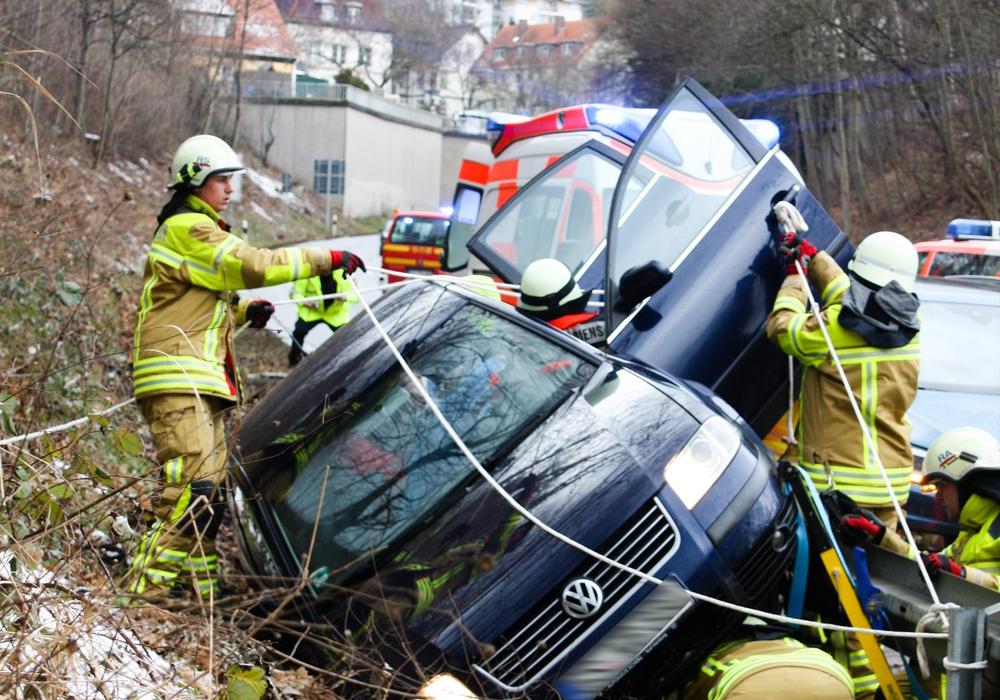 Feuerwehr bei der Bergung. Foto: Feuerwehr Bad Harzburg