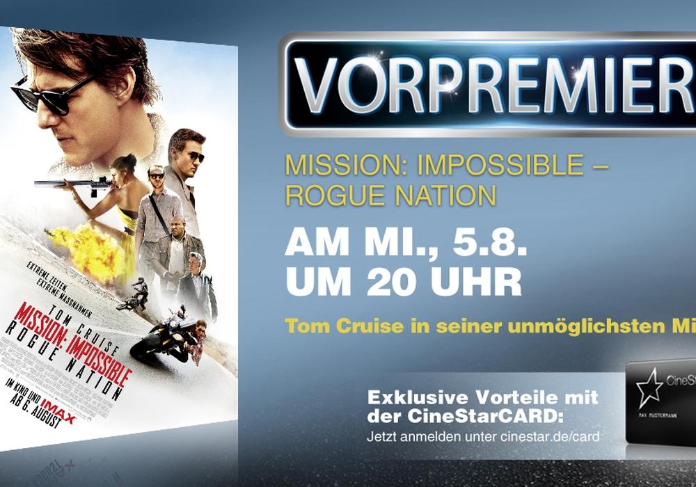 """""""Mission Impossible – Rogue Nation"""" läuft im Cinestar schon einen Tag vor dem offiziellen Kinostart. Foto: Privat"""