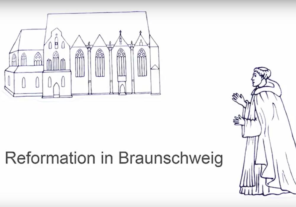 """Der Erklärfilm """"Die Reformation in Braunschweig"""", herausgegeben von der Braunschweig Stadtmarketing GmbH, zeichnet den Verlauf der Reformation in der Löwenstadt nach. Foto: Braunschweig Stadtmarketing GmbH"""