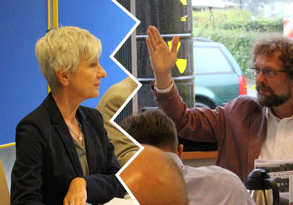 Während der Sitzung der großen Asse 2-Begleitgruppe kam es zu einer heftigen Debatte um eine öffentliche Veranstaltung. Mit dabei: Landrätin Christiana Steinbrügge und Andreas Riekeberg (Asse 2 Koordinationskreis). Fotos/Podcast: Nick Wenkel