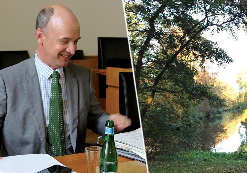 Der Dezernent für Finanzen, Sport und Stadtgrün Christian Geiger setzte im Rat ein farbliches Zeichen. Fotos: André Ehlers / Robert Braumann