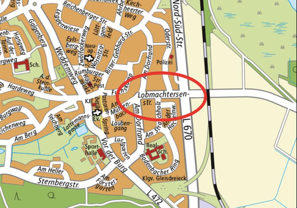 Planung zur Sanierung der Lobmachtersenstraße kurz vor dem Abschluss. Karte: Stadt Salzgitter