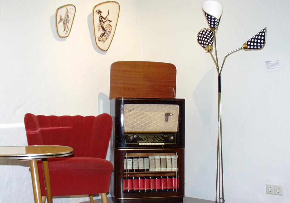 Möbeldesign der 1950er und 1960 Jahre, zu sehen im Stadtmuseum Foto: Stadtmuseum Schloss Wolfsburg