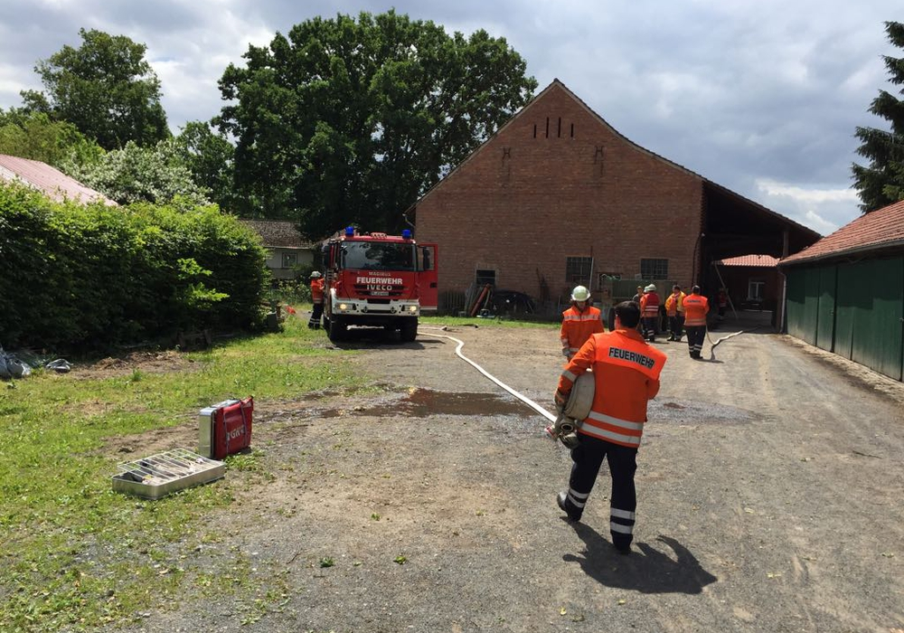 Der Brand in Edemissen war schnell unter Kontrolle. Foto: Nino Milizia