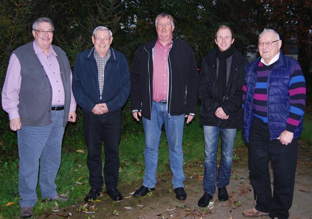 Die Fraktion der SPD in Linden B. Keye, W. Ohmes, K. Meinberg, L. Meinberg, H.J. Meier nicht auf dem Foto:  V. Naujok