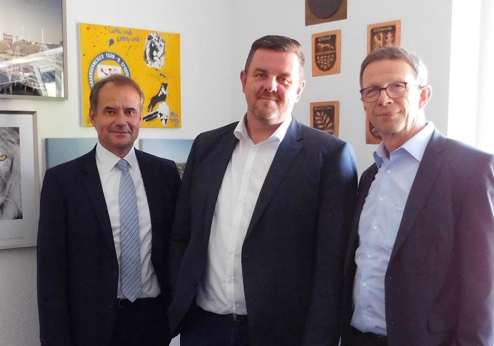 Ulrich Markurth, Andreas Busch und Klaus Mohrs (v. li.). Foto: Gemeinde Lehre