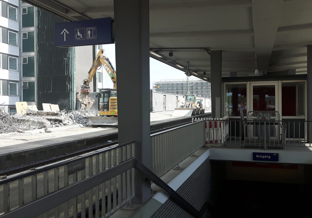 Bauarbeiten am Bahnhof, Foto: Jens Isert