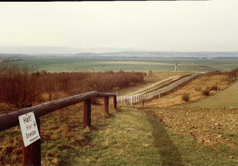 DDR-Grenze bei  Hornburg aus westdeutscher Sicht. Foto: Dieter Kertscher