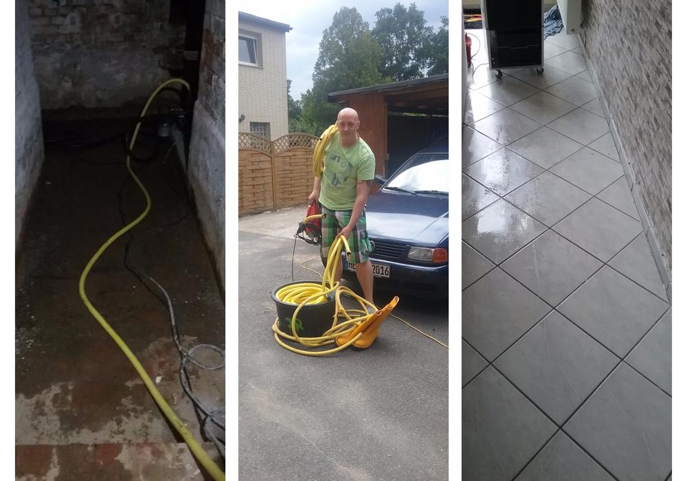 Jan Rabe kommt und pumpt kostenlos Häuser und Keller leer. Foto: Jan Rabe