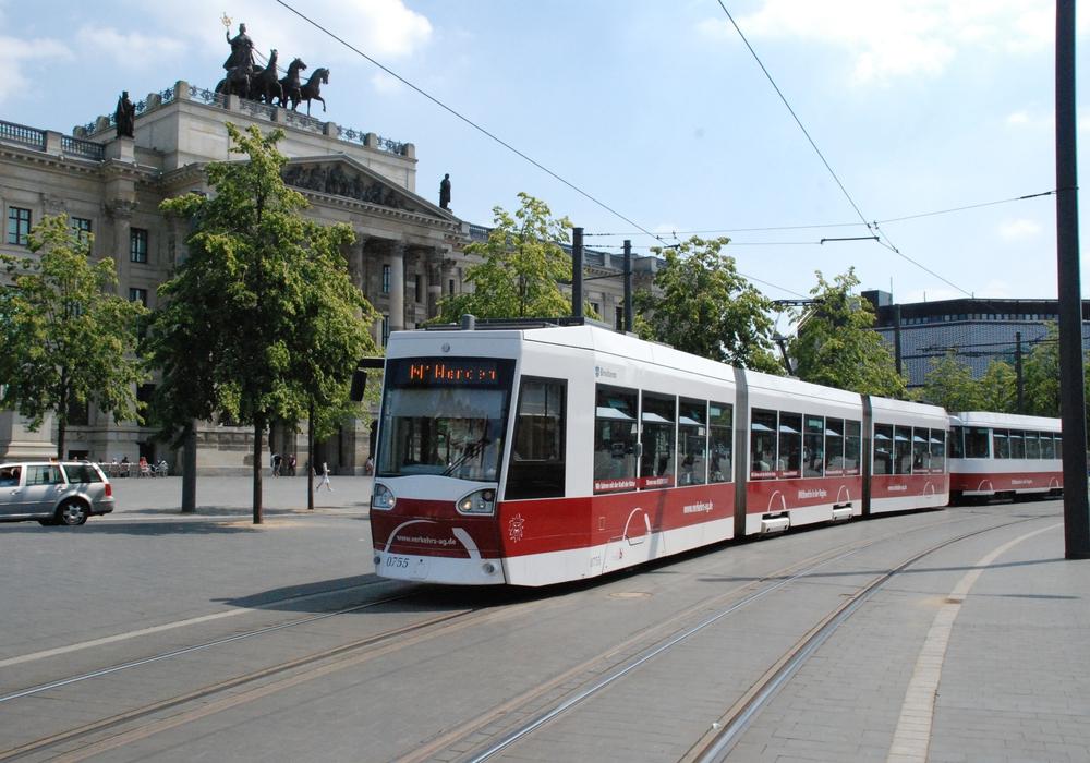 Das Straßenbahnnetz in Braunschweig soll in Zukunft wachsen. Symbolfoto: Verkehrs-GmbH