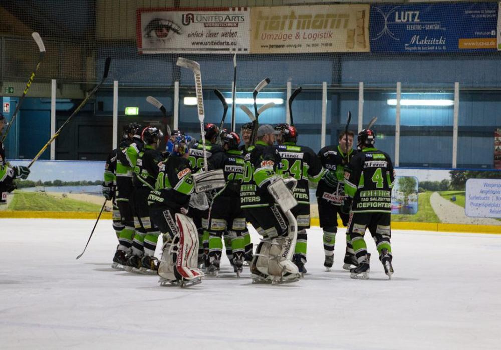Icefighters nach Niederlage gegen den HSV am vergangenen Freitag heute erfolgreich. Foto: Jens Bartels